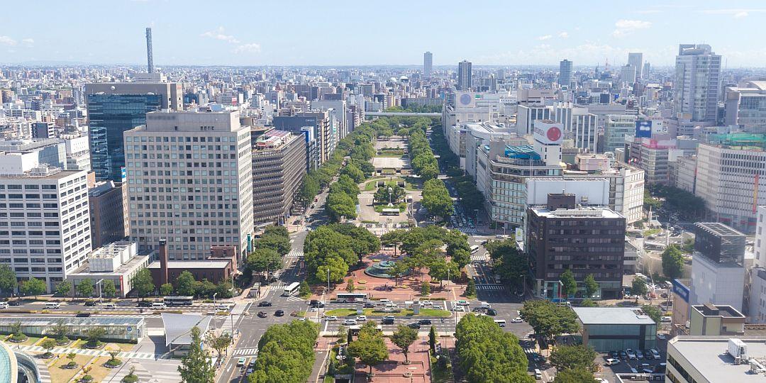 名古屋市中心部眺望写真